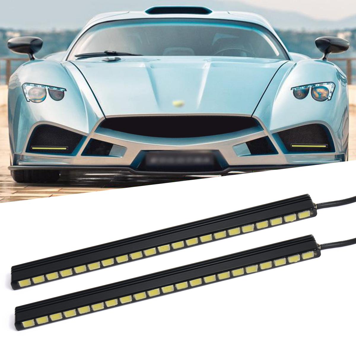 2pcs Daytime Running Light 5630 SMD 21LED Car DRL Bright Driving Fog Day Head Lamp Waterproof