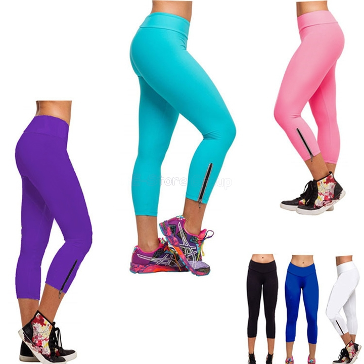 2015 New Fashion Candy Color neon leggings Women Pants elastic size sport Trousers SV001959 - E-Store Group store