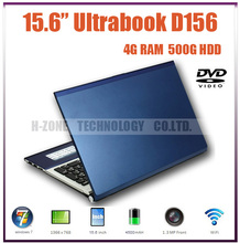 Free shipping 15.6 inch Brand New laptop computer  4G 500G HDD Windows 7  WiFi Bluetooth N2600 Dual core 1.86G Built in DVD-ROM(Hong Kong)