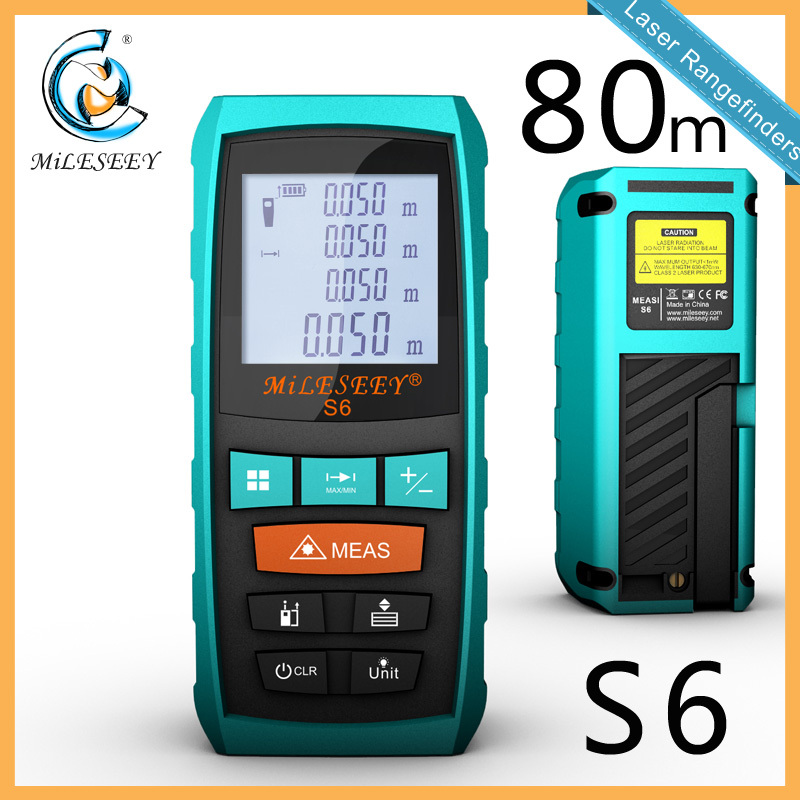 Mileseey S6 Handheld Rangefinder Laser Distance Meter  Digital  Laser Range Finder Laser Tape Measure  80M<br><br>Aliexpress