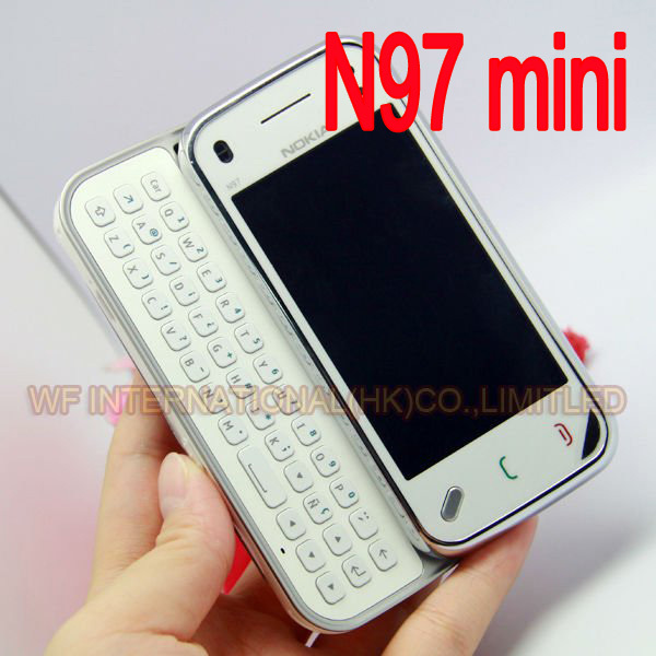 100% Original Nokia N97 Mini Mobile Phone Unlocked 3G WIfi GPS 8GB storage Symbian Smartphone White & one year warranty(China (Mainland))