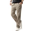 Linen Casual Wear Pants Men Solid Thin Breathable Comfort joggers Sweatpants Plus Size XXXL 4XL Mens