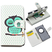 Printing Flip Leather Case for Nokia Lumia 1020 Flip Cover for Nokia 1020 Wallet Case with ID Card Holder 10 Colors in Stock