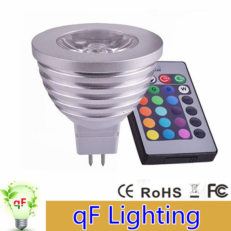 4W E27 RGB LED Bulb Lampada 85V-265V 110V 220V 16 Colors Dimmable MR16 E27 GU10 Led Lamp Light Spotlight 12V +Remote Controller(China (Mainland))