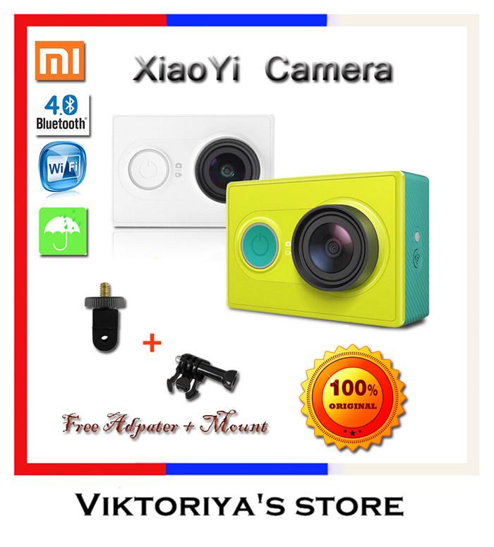 2015 XiaoMi XiaoYi Action Camera 16MP 60FPS 1080P XiaoMi Camera Travel Edition with Original Monopod SJ4000 Gopro Style Cam(China (Mainland))