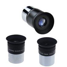 6 mm 12.5 mm 20 mm 1.25 pulgadas Plossl telescopio ocular 4 elemento Plossl diseño roscado para estándar 1.25 pulgadas astronomía filtros