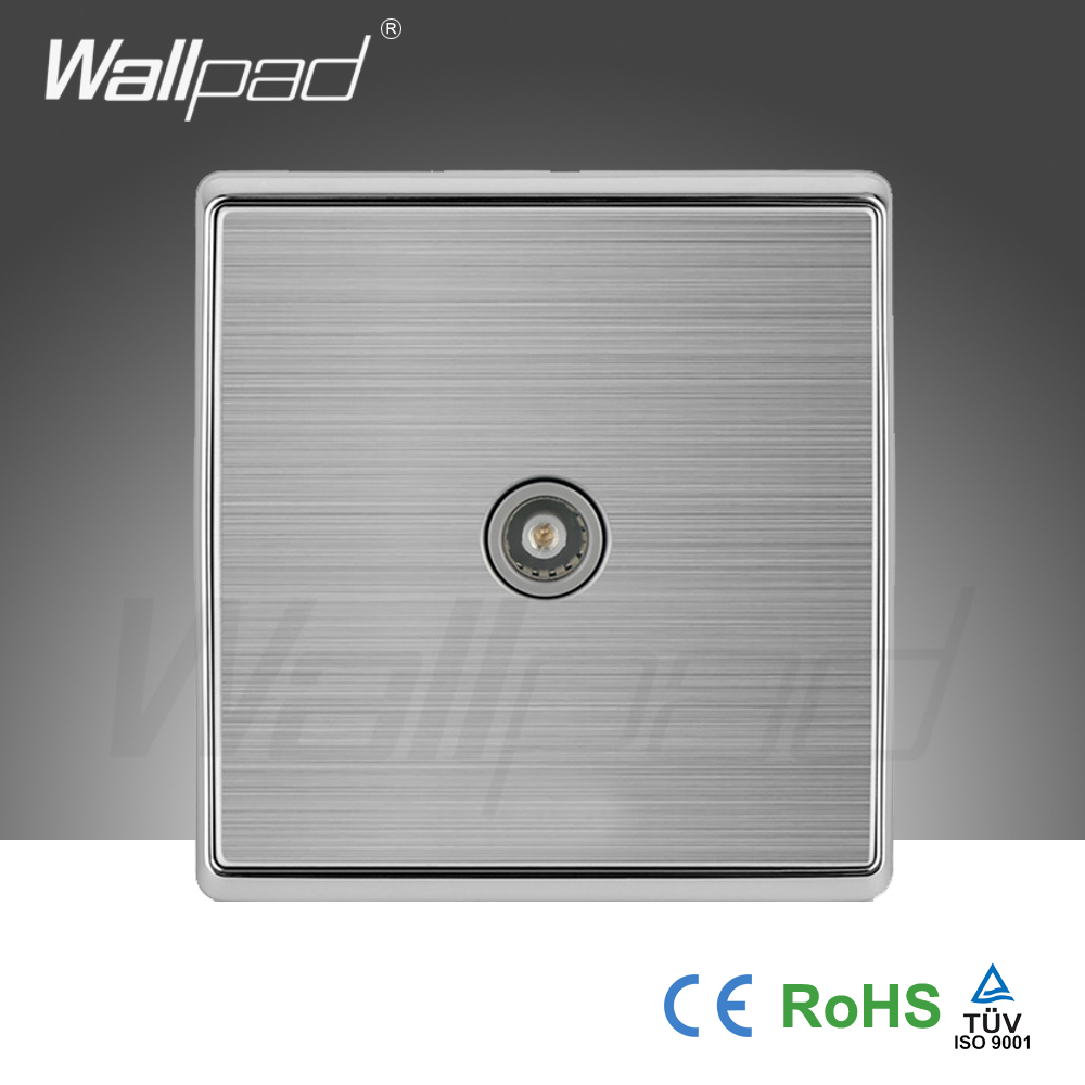 Free Shipping,POLO luxury wall switch panel, TV 1 in 2 out Socket, Light Switch,Button switches, Silver Series,110~250V<br><br>Aliexpress