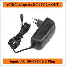 12 V 2A AC DC Adaptador de Enchufe de LA UE AC 100-240 V Convertidor para DC12V 2000mA Fuente De Alimentación Conmutada para la luz de tira LLEVADA, Router inalámbrico