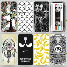 Case For Meizu Pro 5 Colorful Printing Drawing Plastic Hard Cover for Meizu MX5 Pro Fashion Transparent Phone Cases