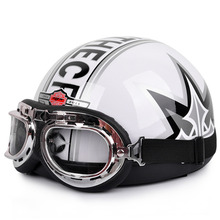 2016 Hot Sale Unisex free Shipping New Summer Vintage Motorcycle Helmets Open Face Half Motorbike & Goggles Helmet Capacete free(China (Mainland))
