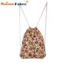 Modern Women Fashion Owl Animal Pattern Backpacks Shopping Travel Drawstring Bag  e12(China (Mainland))