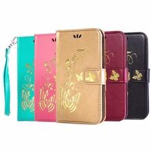 Luxury Gold Stamping PU Leather Wallet Flip Case coque Huawei y5c Y5 C Y541 honor bee y541-u02 fundas capa Cover - xudong wu's store
