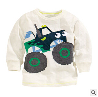 Cotton Kids Tees Full Sleeve For 2015 Toddler Boys Cartoon Clothing Autumn Baby Tops Character Children Clothes 9pcs/LOT<br><br>Aliexpress