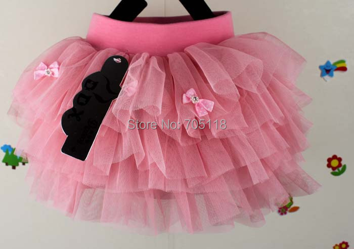 Summer Girls Skirt Ball Gown Princess Fluffy Pettiskirts Baby Tulle 2 Colors Party Clothes Bowknot - Yiwu Superfashion E-commerce Business Firm store