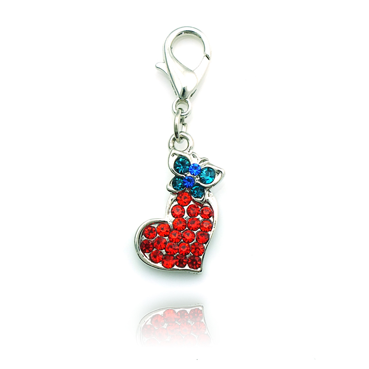 wholesale floating charms rhinestone zinc alloy