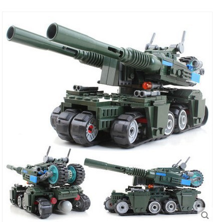 Military Building Block Set Compatible with lego Apocalypse Tank 3D Construction Brick Educational Hobbies Toys for Kids<br><br>Aliexpress