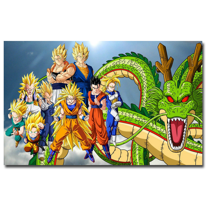 Dragon ball z silk poster 12x18 24x36inch anime pictures for Decoration murale dragon ball z