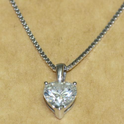 1 CARAT CT Charles&amp;Colvard Brand Heart Shaped Moissanite Solid 14k  White Yellow Gold Pendant Lab Grown Diamond,Diamond Jewelry<br><br>Aliexpress