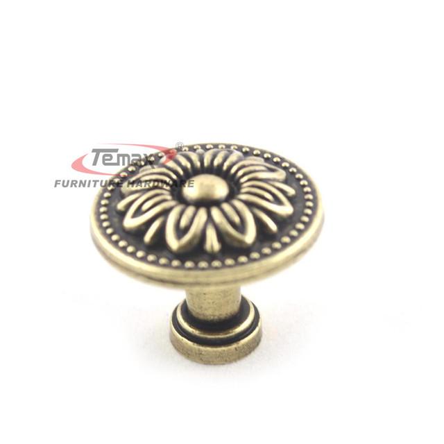 10pcs 32mm Hot Bronze Vintage Antique Dresser Drawer Pulls Kitchen Cabinet Knobs Furniture Handle Hardware A1045