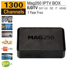 Linux IPTV Box Mag 250 Iptv Set Top Box IPTV Account Include One Year Sky/Greek/Portuguese/Spanish/Indina/English Channels
