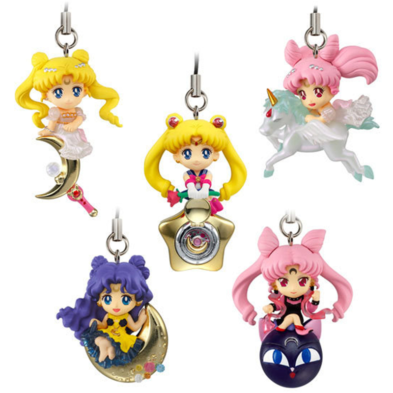 [PCMOS] 2017 New Anime Sailor Moon Twinkle Dolly Part 3 Phone Strap Charm Figure No Box 5pcs/Set Free Shipping 5803-L(China (Mainland))