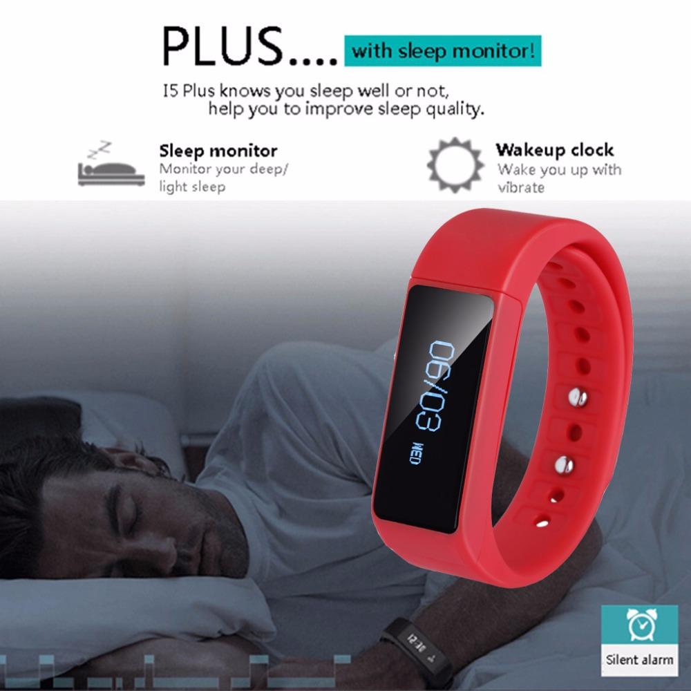 Excelvan OLED Bluetooth Smart Bracelet , Sleep Monitor Call Reminder Touch Screen TPU adjustable Wristband for Android For IOS<br><br>Aliexpress