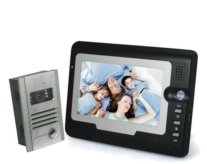 Hot 2014 New Color Video Door Phone 7 Inch LCD Color Video Door Phone 7 Inch LCD 1v1 Intercom System