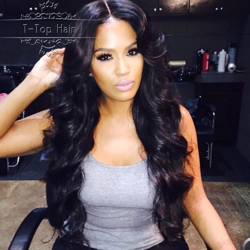 Brazilian Virgin Hair Lace Front Human Hair Wigs Body Wave Natural Black Glueless Full Lace Human Hair Wigs For Black Women