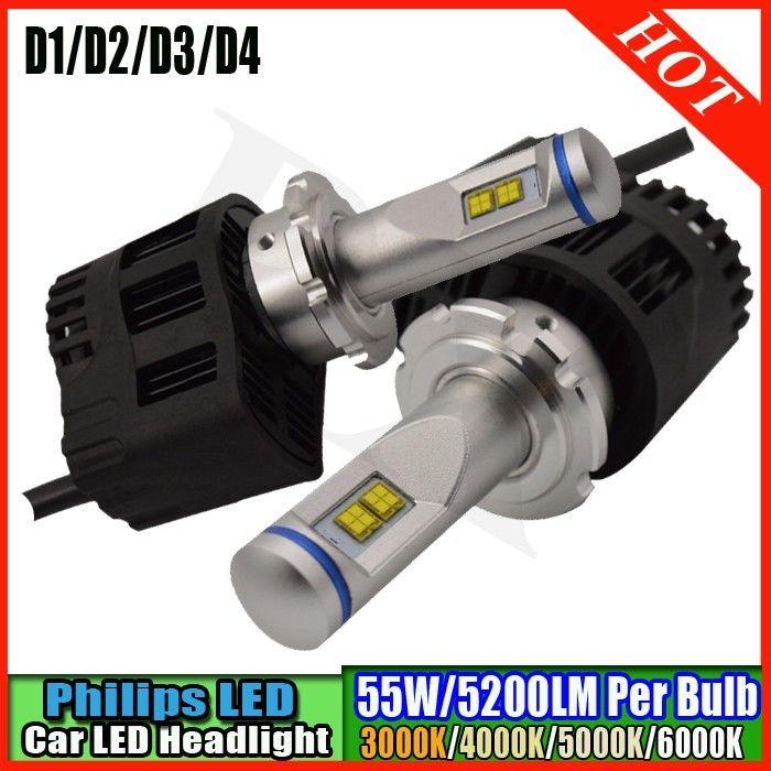 2Pcs D1/D2/D3/D4 D2S D2R D2C D4 LED Headlight Conversion Kit 110w 6000K White Light Bulbs<br><br>Aliexpress