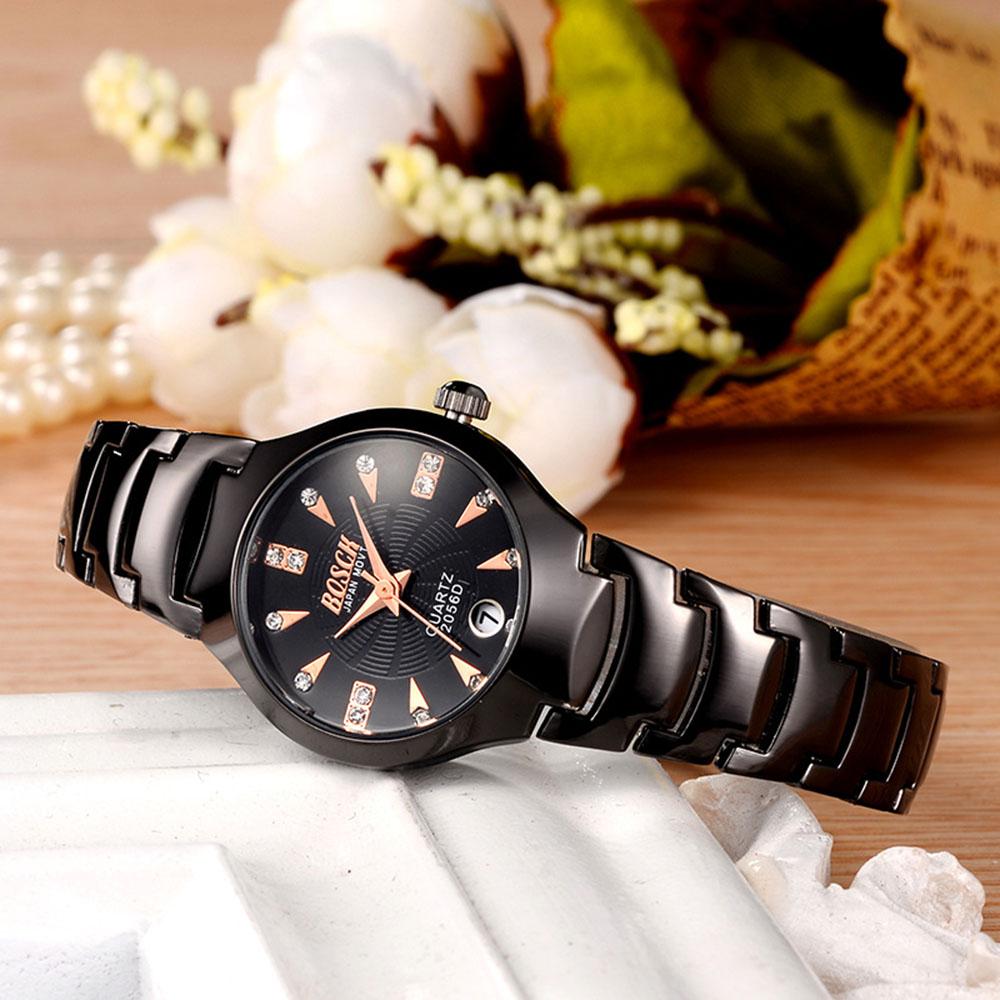 Роскошные Лучший Бренд женские Часы календарь Нержавеющей Стали Дамы водонепроницаемые Часы Платье Женщины Повседневная Кварцевые Часы Спорт Наручные Часы