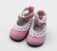 1 זוג 5 cm עור מפוצל נעלי BJD בובת אופנה מיני צעצוע תחרה בד נעלי 1/6 בובת רוסית בובה אבזרים(China)