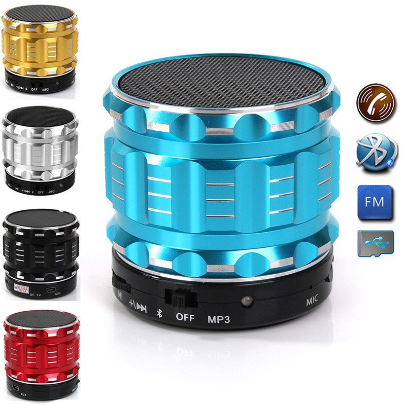 Portable Mini Bluetooth Speaker Wireless Speakers Stereo Small S28 Metal Subwoofer Sd Card for Mobile Phone Mp3 Pc Music Player(China (Mainland))