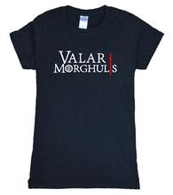 Buy 2017 summer 100% cotton VALAR MORGHULIS Game Thrones fashion t shirt women brand tops harajuku t-shirt women movie fans for $5.51 in AliExpress store