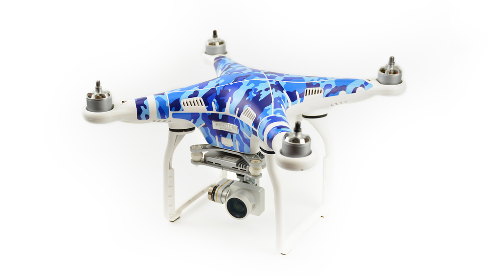 PGY DJI Phantom3 Waterproof 3M PVC Sticker skins decals Ocean camouflage Skin For labels professional Drone parts