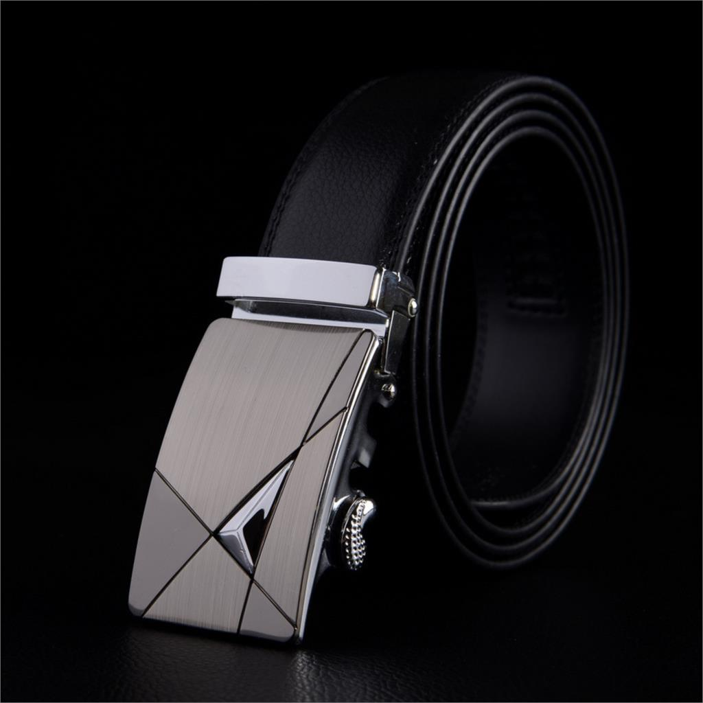 Luxury Brand Leather Mens Belts Designer Business Leather Cool Belts with Automatic Buckle(China (Mainland))