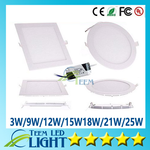 X10 CE RoHS Led Panel Light SMD2835 3W 9W 12W 15W 18W 21W 25W 85-265V Led indoor Ceiling Recessed downlight led down lighting<br><br>Aliexpress