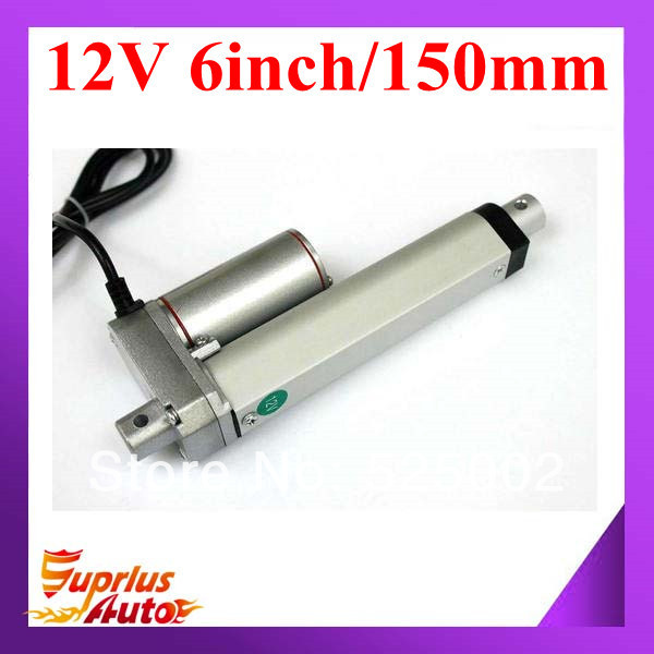 """Linear Actuator: 6"""" Stroke, 12V, 150mm stroke,750N push load .free shipping(China (Mainland))"""