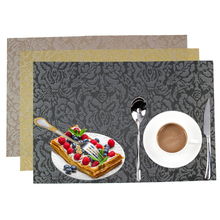 4pcs/set PVC Placemat Bar Mat Non-slip Insulation Placemat Kitchen & Dining Tabletop Accessories Waterproof Easy To Clean