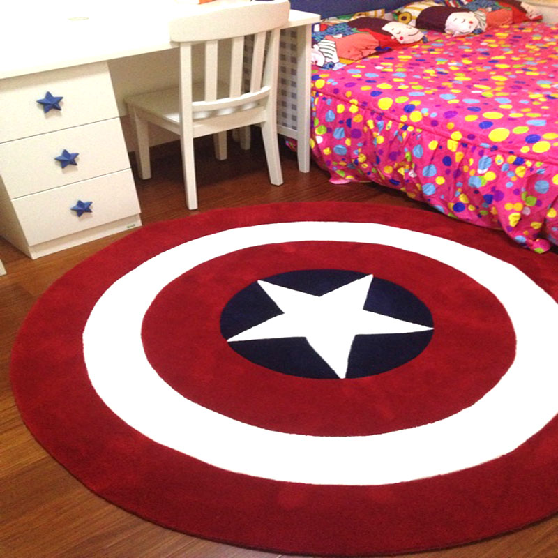 Captain America Shield Circle Carpet Living Room Coffee
