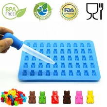 50 Cavity Silicone Gummy Bear Chocolate Mold Candy Maker Ice Tray Jelly Moulds(China (Mainland))