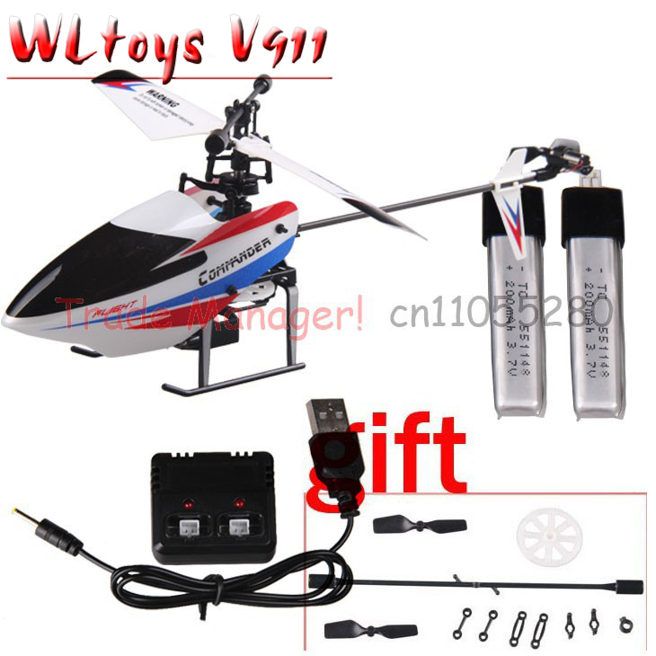 Free shipping WL V911 Bare helicopter + battery 200 mah + charger for v911 rc helicopter parts v911-2 or v911-2 Accessories(China (Mainland))