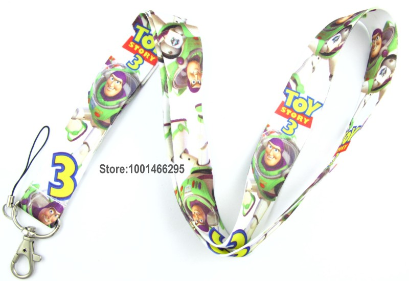 Free shipping 100 Pcs /Wholesale lot Toy Story Necklace Strap Lanyards Cell Phone PDA Key ID Strap Charms L188(China (Mainland))