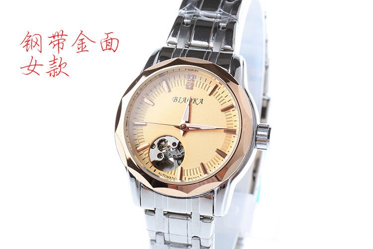 2016 Новое прибытие cut корона полый стальной ленты автоматические механические часы женщины водонепроницаемые часы relogio femininos