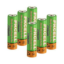 6 x PKCELL 2200MAH 1.2V Low Self  Discharger AA Rechargeable Battery