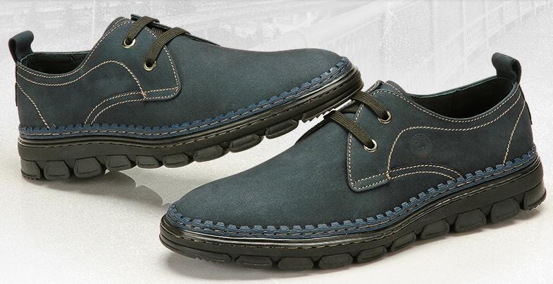 Падение мужская кожаные ботинки подлинные мужчин первый слой кожи обувь кожи зима каждый день свободного покроя обувь бесплатная доставка мода обувь