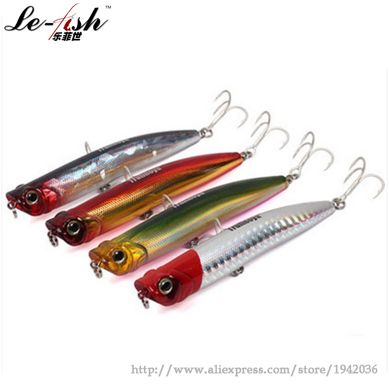 Hot Sale Popper Artificial Bait Fishing Lure Plastic Treble Hook 9cm/10g Quality For Lure Fish Spinning Casting Free Shipping<br><br>Aliexpress