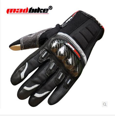 (1pair&3colors) Carbon Fiber Motorcycle Full Finger Glove Racing Gloves Motorbike Guantes CG-MG03(China (Mainland))