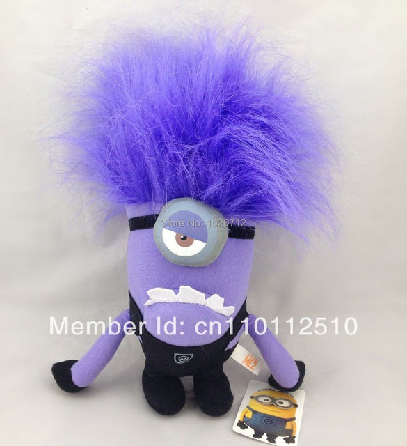 """Best Xmas Gift Despicable Me 2 Evil Minion Plush Toy 12"""" One Eye Purple Stuffed Animal Doll  Best Sell"""