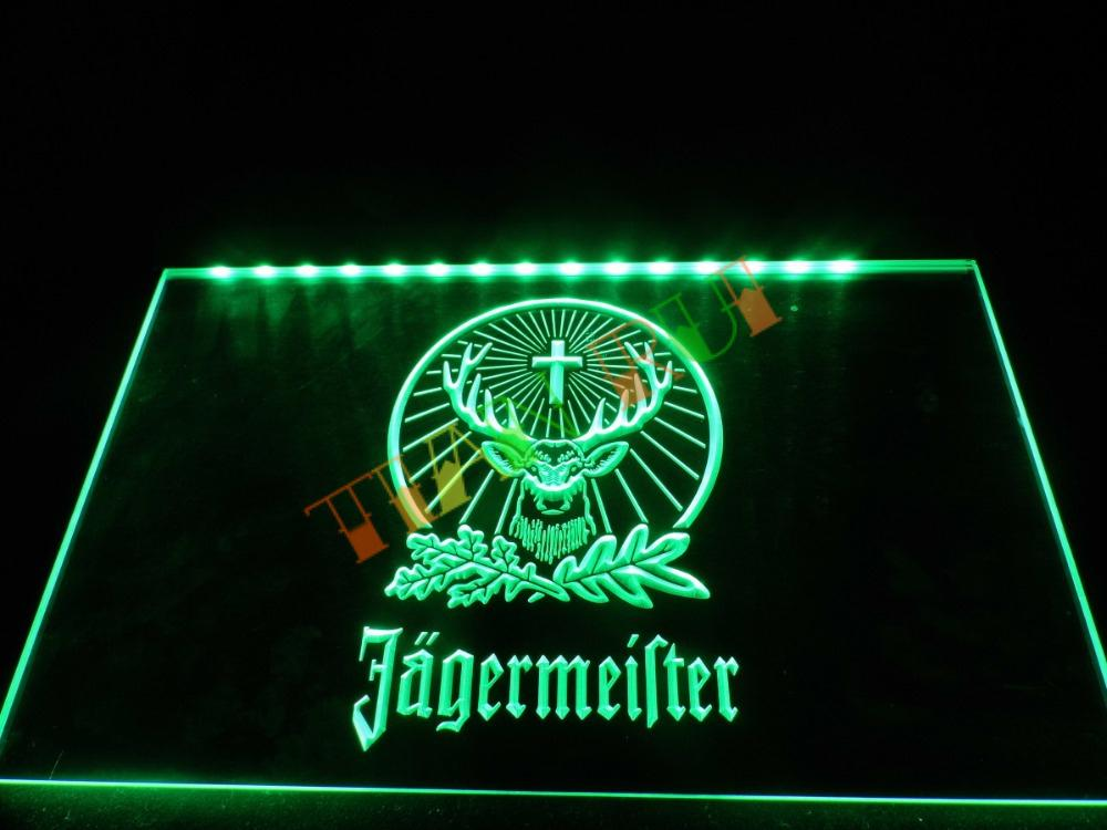TR001- Jagermeister LED Neon Light Sign hang sign home decor crafts(China (Mainland))