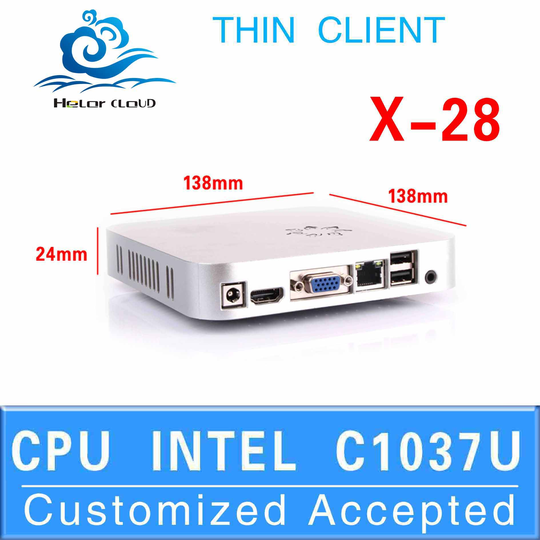 Industrial PC Desktop pc x-28 computer thin client support os WIN7, Linux, Windows XP,Ubuntu Debian 8g ram 16g ssd(China (Mainland))